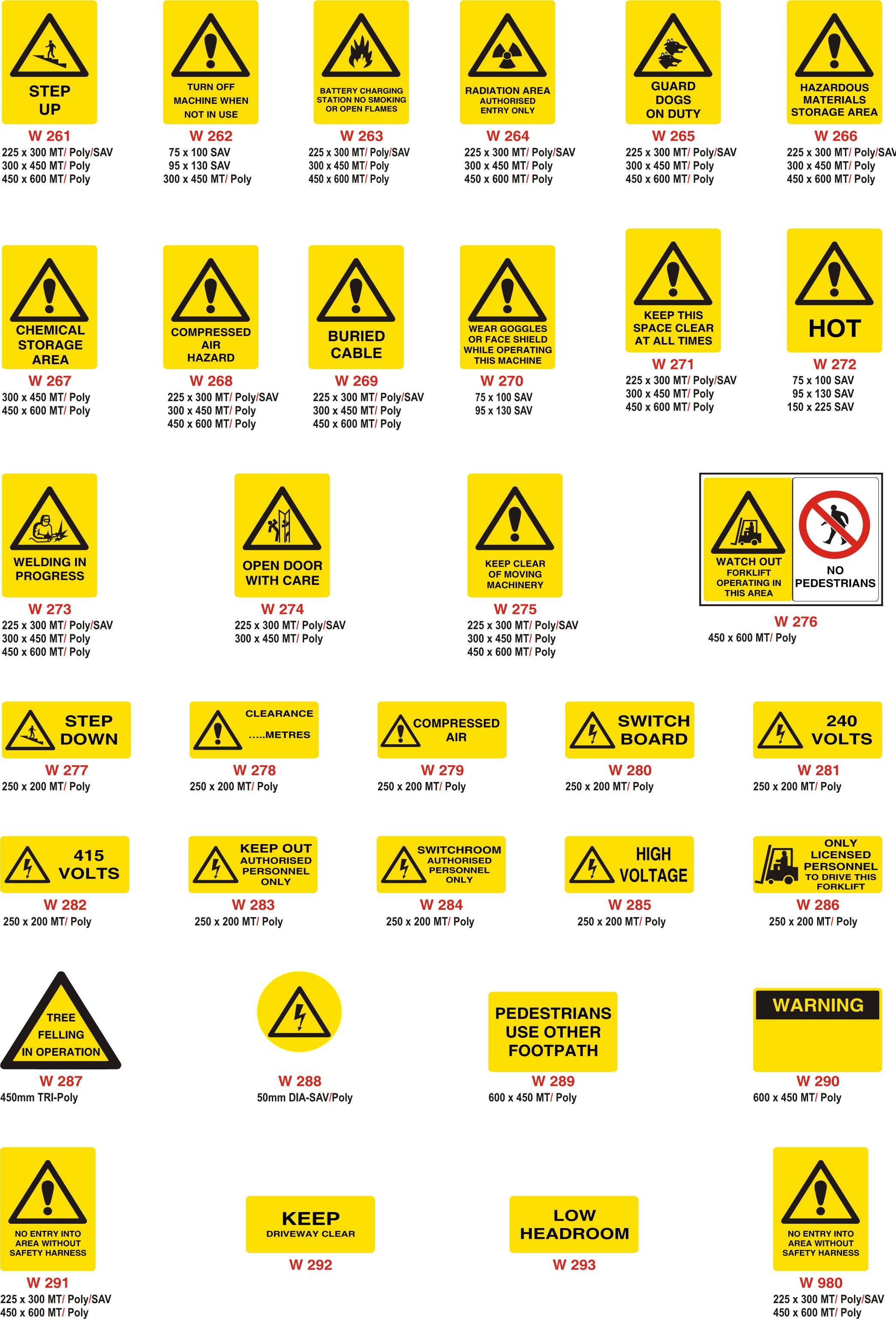 Warning Signs Papillon Australia Pty Ltd