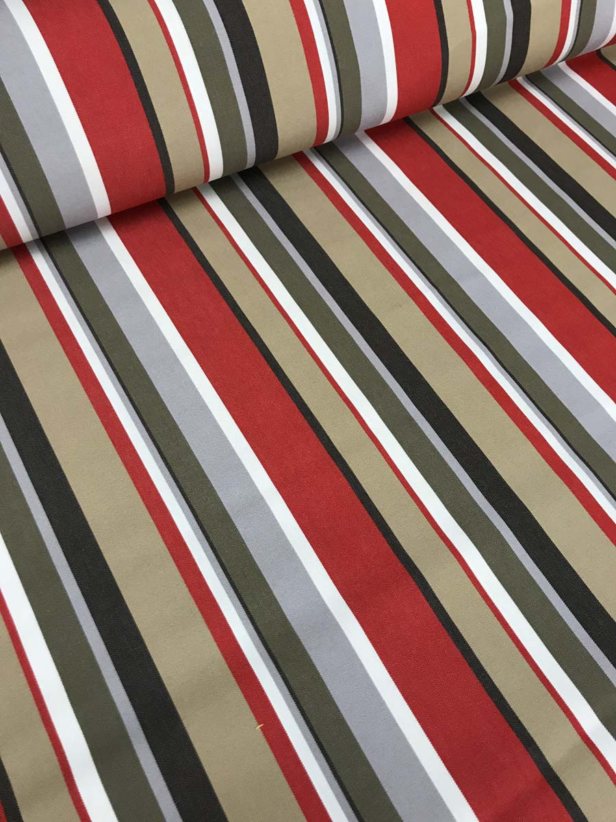 tissu d exterieur a rayures grande largeur 320cm escale multicolore rouge