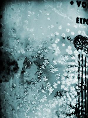 Garrafa de Absolut congelada
