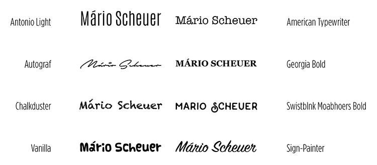 Quadro 1. Exemplo de fontes diferentes aplicadas com um mesmo nome