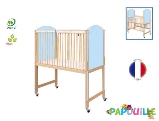 couchage lit creche en bois bebe