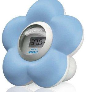 blauwe thermometer