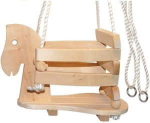 Wickey houten schommel stoel