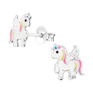 zilveren oorbellen paardje