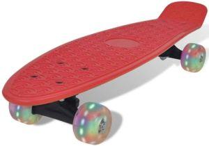 Skateboard met led wielen roze