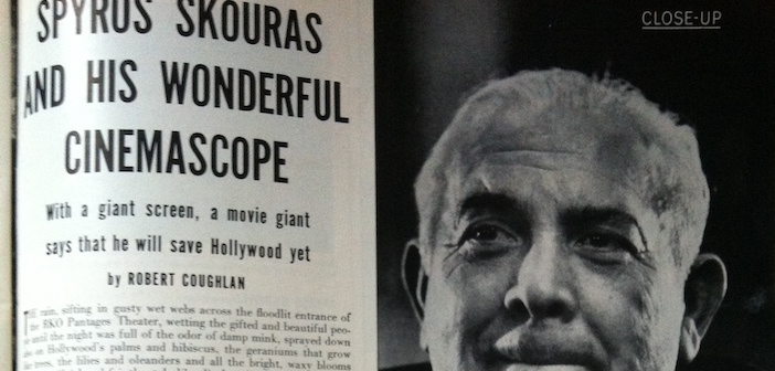 From Life Magazine, featuring Spyros Skouras' push for Cinemascope