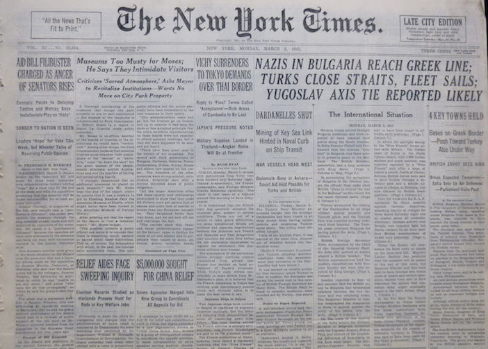 Newspaper Front Page 1914