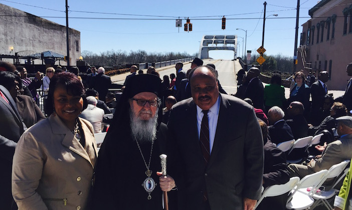 Martin Luther King III, Bernice Albertine King, and Archbishop Demetrios of America
