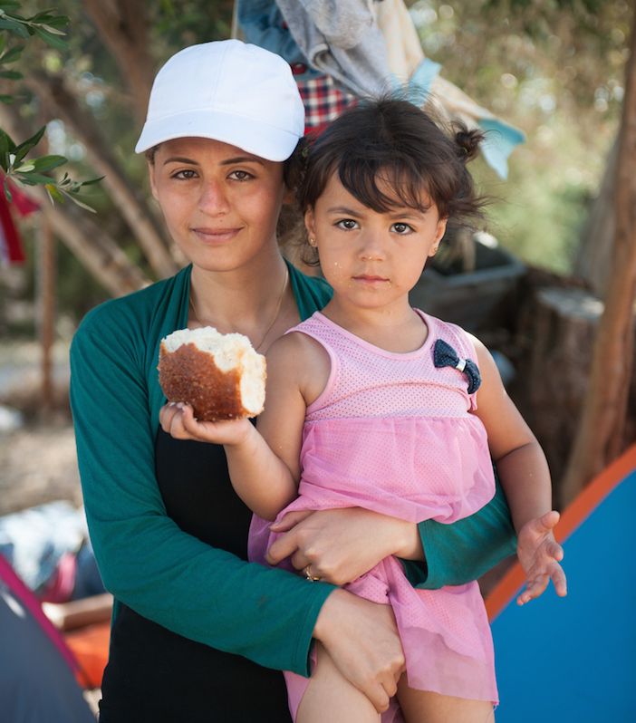 Jeilan, 28 years old, from Aleppo, Syria, with her 4 years old daughter, stays in the Kara Tepe refugee camp on the island of Lesbos. She has already spent 5 days in the camp waiting for her papers to be issued by the police. ìI cannot believe that I am living in such conditions with my family,î she says. ìI used to be a teacher back in my country. My husband was an accountant. Look at us now! This is inhumane.î