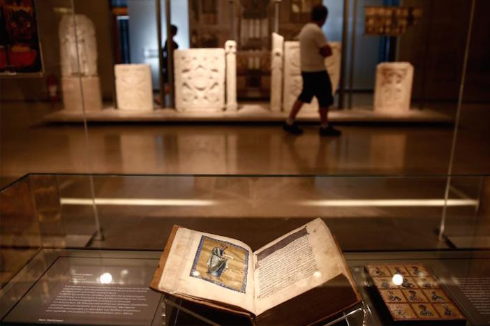 Stolen from a Greek monastery and eventually purchased by an American museum, this 12th-century Byzantine New Testament was returned to Greece in 2014.