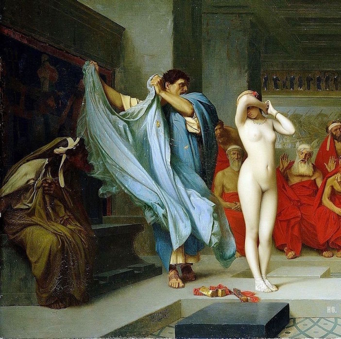 Phryne revealed before the Areopagus. 1861. Jean Leon Gerome.