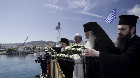 (Photos) Pope, Patriarch, Archbishop Remember Deceased Refugees; Call on Europeans to Remember Their Christian Roots