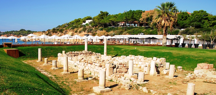 The Temple of Apollo at Astir Beach in Vouliagmeni