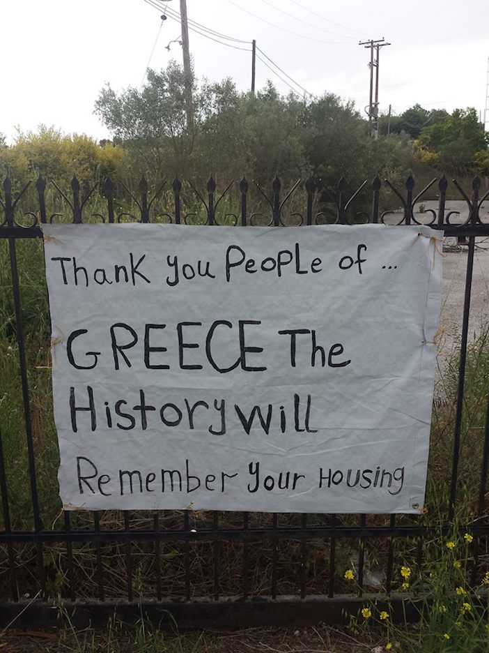 Thank you to the people of Greece from a refugee.