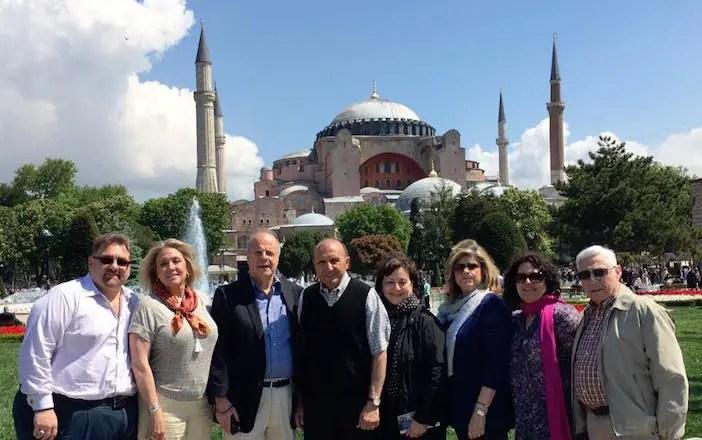 Ahepa leadership at Hagia Sophia during a May 2016 visit (Photo: via Basil Mossaidis)