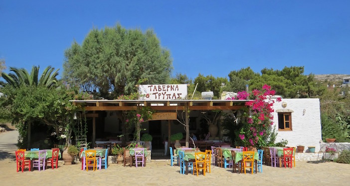"Taverna Tripas on Arki island is a short boat ride from Patmos. A ""must eat"" place."