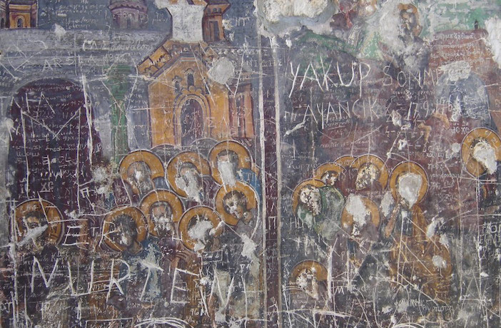 damage to priceless icons in Panagia Soumela