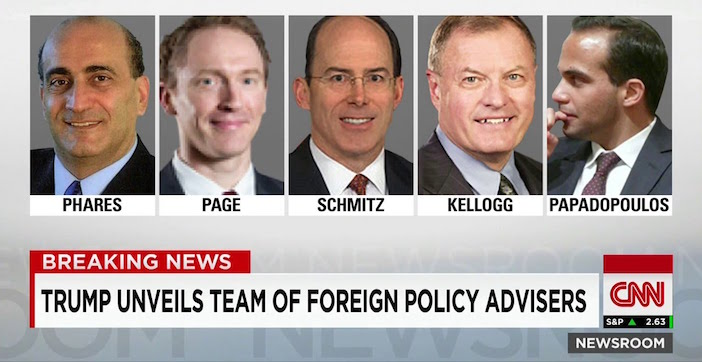 George Papadopoulos was one of Donald Trump's foreign policy advisors during the campaign. His role-- if any-- remains to be seen in a Trump White House.