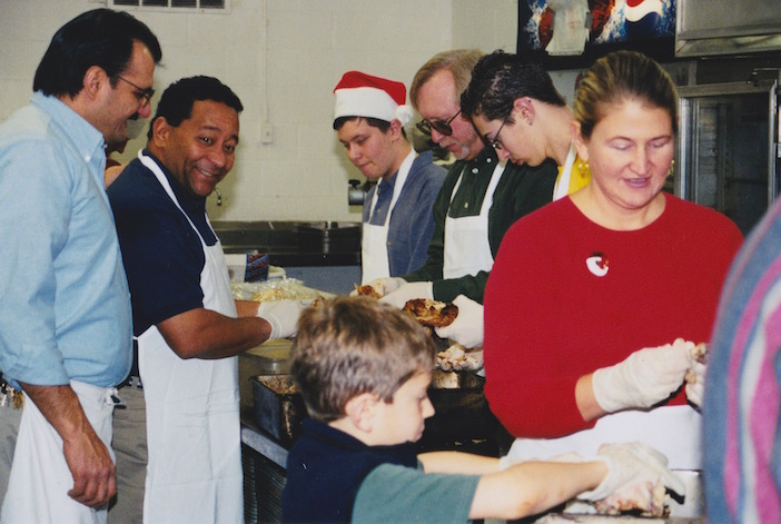 It's a family affair at the restaurant on Christmas day as the entire family comes together to prepare more than a thousand meals every year.