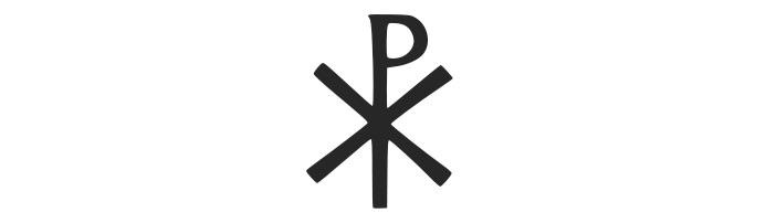 Constantine the Great used this symbol wit the first two Greek letters from the name of Christ (chi and rho)