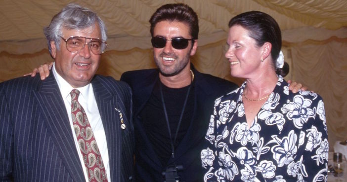 George Michael with his parents Jack and Lesley.