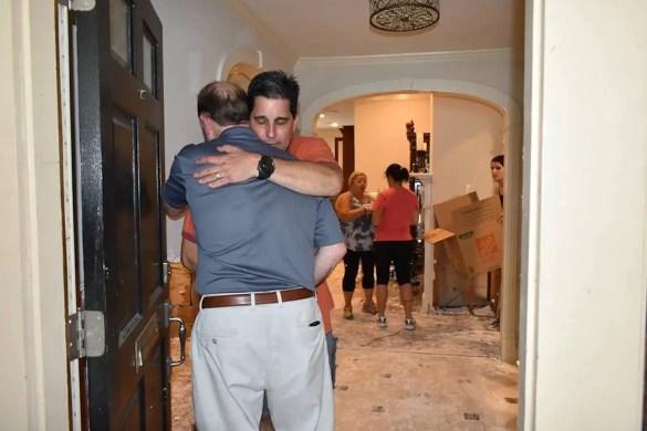 AHEPA Delegation Visits Families Hit by Harvey, Sets $100K Goal for Relief Efforts