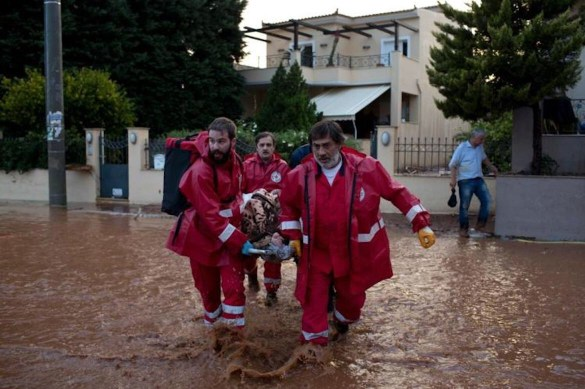 (Photos, Video) Greece in National Day of Mourning as Death Toll Rises to 15 from Flash Flooding
