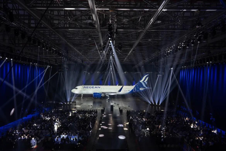 Resultado de imagen de aegean airlines new look