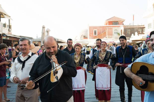 Traditional musicians accompanied the couple to the church