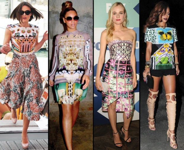 Keira Knightley, Beyoncé, Diane Kruger, and Rihanna in Mary Katrantzou.