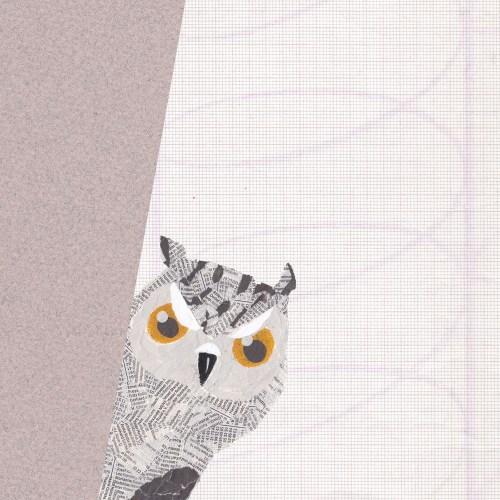 Eule-Käuzchen-Collagevogel