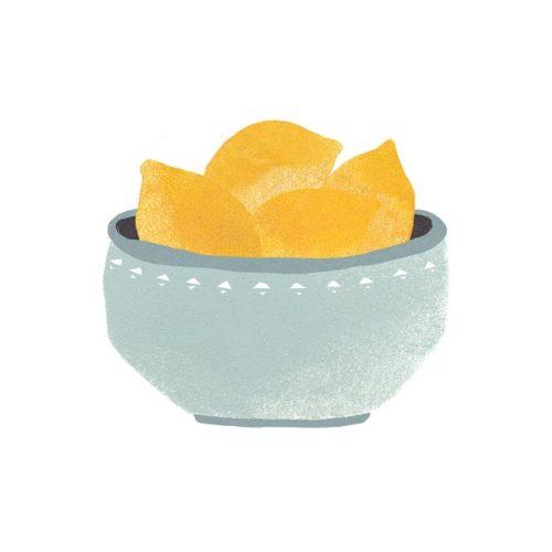 Zitronen-Obstschale-Stillleben