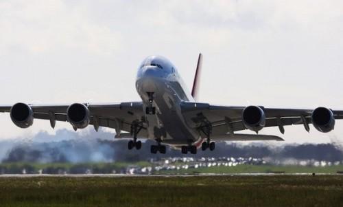Quantas Airbus A380 in Auckland