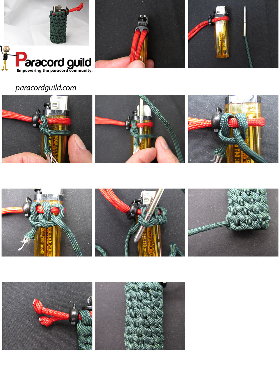 How To Make A Paracord Lighter Wrap Paracord Guild