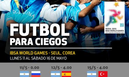 Fútbol para ciegos: Argentina debutará ante Rusia