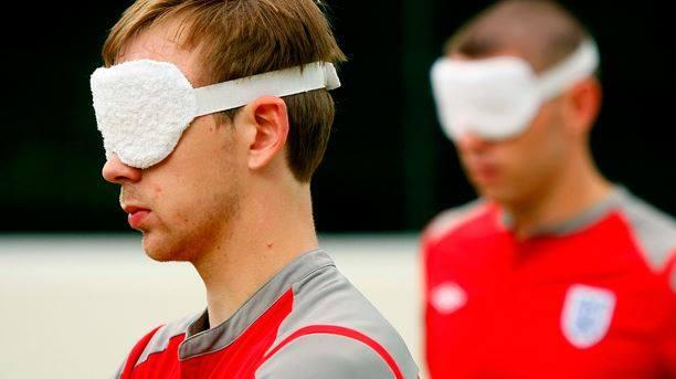 Fútbol para ciegos en la final de la Champions