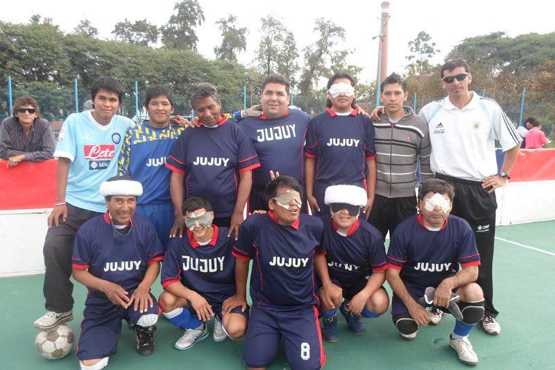 Fútbol para ciegos: Los Linces festejaron en Jujuy