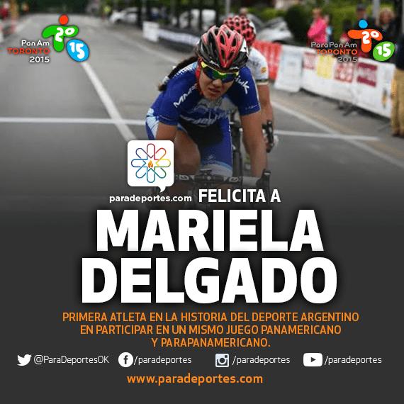 """La ciclista Mariela Delgado, primera atleta en la historia del deporte argentino en participar de un mismo Juego Panamericano y Parapanamericano (Toronto 2015). """"Es un sueño, todavía no caigo"""", le dijo a Paradeportes.com"""