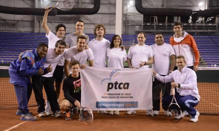 Tenis para ciegos: Exhibición con Mayer y Schwartzman