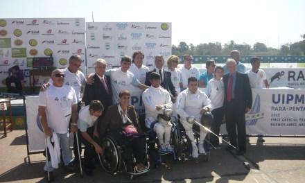 Argentina albergó a la primera exhibición de parapentatlón a nivel mundial