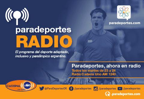 Este martes a las 23, tercer programa de Paradeportes Radio