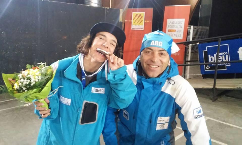 Snowboard adaptado: medalla plateada argentina en Francia