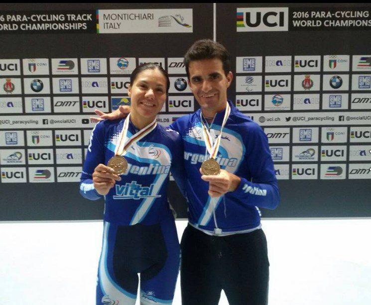 Ciclismo adaptado: Mariela Delgado obtuvo un bronce en el Mundial de Italia