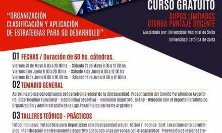 Curso de deporte paralímpico en Salta
