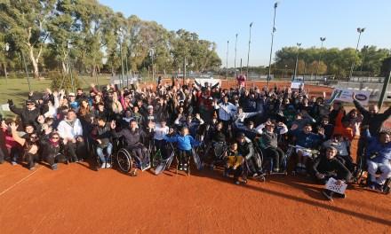 Fiesta del tenis adaptado en Parque Sarmiento