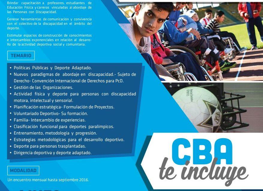 Capacitación de deporte adaptado en Córdoba