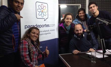 Atletismo paralímpico: La Selección Argentina visitó Paradeportes radio