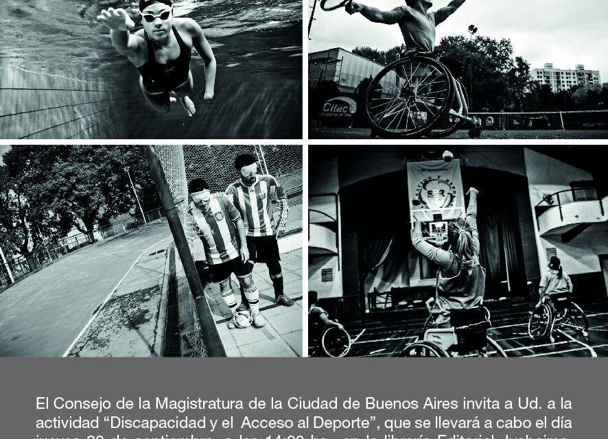 """Charla abierta sobre """"discapacidad y acceso al deporte"""" organizada por el consejo de la Magistratura de la Ciudad"""