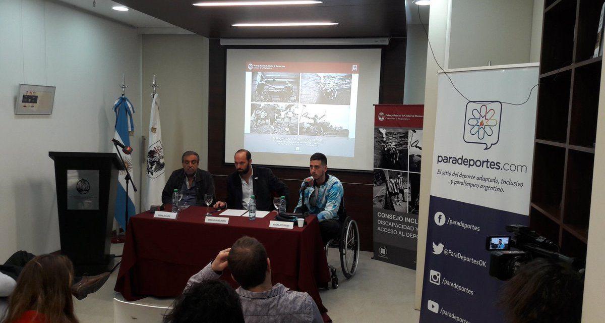 """Charla abierta sobre """"discapacidad y acceso al deporte"""", organizada por el consejo de la magistratura de la ciudad"""
