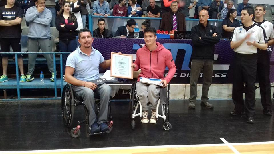 Gustavo Fernández y Lucas Díaz Aspiroz, reconocidos en Olavarría